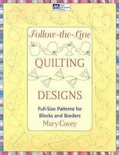 Follow-the-Line Quilting Designs : Full-Size Patterns for Blocks and Borders NEW