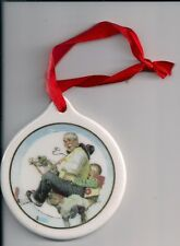 CHRISTMAS-NORMAN ROCKWELL-ORNAMENT-J.C. PENNY GIVEAWAY-1997-GLASS