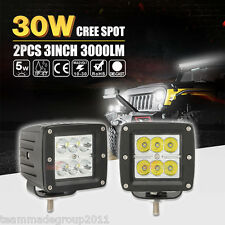 2x 3inch 30W CREE LED SPOT Cube Work Lights Driving Pods Off-Road ATV UTE PK 18W