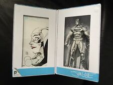 Exclusive SDCC 2015 Jim Lee Batman Blueline Figure ORIGINAL HARLEY QUINN SKETCH