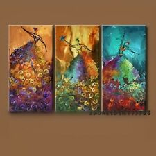 A22790  Peacock Dance Abstract Oil Painting On Canvas 1Set(3PCS) (NO Frame)