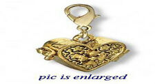 Gold Plated Heart Prayer Box Pendant Locket 16 MM