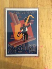 1979 New Orleans Jazz Fest Poster Postcard 5th John Martinez
