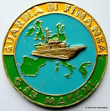 Guardia di finanza G83 MACCHI-Guardia costiera italiana Navy tampion PLACCA CREST