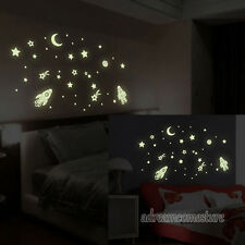 Novelty Star Universe Glow Removable Art Wall Stickers Kids Room Decor Wallpaper