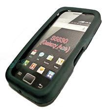 Silicona TPU, móvil cover case en negro para Samsung s5830 + protector de pantalla