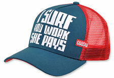 "COASTAL - High Fitted Trucker Cap ""She Pays"" (petrol)"