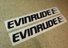 "Evinrude Vintage Outboard Motor Decals 12"" Black FREE SHIP + FREE Fish Decal!"