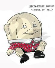 "Vintage Humpty Dumpty Cushion Sewing pattern 18"" TALL"