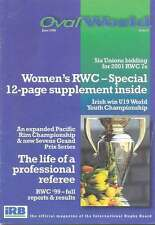 OVAL WORLD No 8 1998 RUGBY MAG PACIFIC RIM WOMEN'S RUGBY 2001 RWC VERNON PUGH