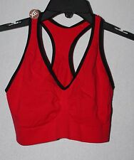 NEW HANES WOMENS PLUS SIZE 3X B-C RED & BLACK LOW IMPACT RACERBACK SPORTS BRA