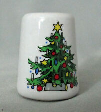 Miniature Ceramic Decorated Christmas Tree Mini Candle Holder Free USA Shipping
