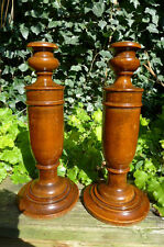 Vintage wooden candle sticks holder-pair, beautiful