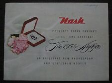 1954 Nash Airflyte Sales Brochure Ambassador and Statesman Models Pinin Farina