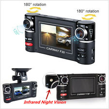 "2.7"" LCD Dispaly Dual Lens Car DVR Camera Digital Video Recorder Dash Cam 1080P"