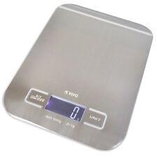 Portátil compacto y delgado de acero inoxidable básculas de cocina Digital Grande LCD fácil de leer