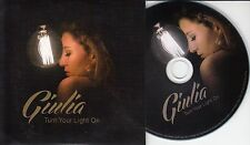 GIULIA Turn Your Light On 2015 UK 2-track promo CD