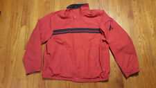 Nautica Red Full Zip lined Windbreaker jacket SPELL OUT Sailboat XXL VTG 90s