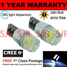 2X W5W T10 501 CANBUS ERROR FREE WHITE SMD LED NUMBER PLATE LIGHT BULBS NP103301