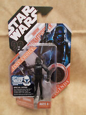 Star Wars 30th Anniversary SHADOW STORMTROOPER w/Black coin Saga Legends NIP