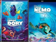 2 DVD SET- Finding NEMO (2003) & FINDING DORY(2016)