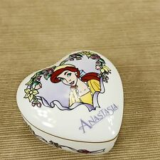 Disney Anastasia Heart Porcelain Trinket Box Dish Musical Once Upon A December