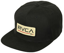 RVCA Big Block Snapback Hat (Black/Tan)