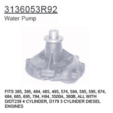 3136053R92 Case Tractor Parts Water Pump 385, 395, 484, 485, 495, 574, 584, 585,