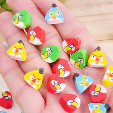 10 x Mini Angry Birds Eraser Novelty Party Favour Bag Rubber School Pencil Case