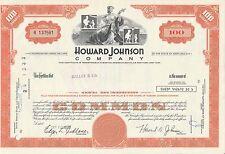 MDS USA HOWARD JOHNSON COMPANY 100 SHARES 1973 COMMON STOCK