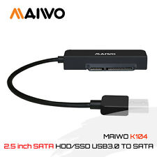 MAIWO K104A USB 3.0 to 2.5 inch SATA HDD/SSD Cable Adapter Hard Drive Disk Cable