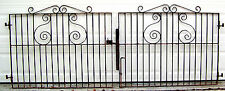 PAIR 54x43 Wrought Cast Iron Garden Gate Old English Vtg Gauge Will Sell Singles