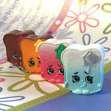 Shopkins Season 3 Christmas Exclusive 2015 Toasty Bread set of 4 VHTF!!