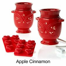 Joy Mangano Forever Fragrant Warmer 2 PACK Apple Cinnamon 14 Piece