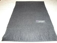 100% Cashmere Scarf Soft 72X12 Solid Charcoal Gray Made in Scotland Wool Women