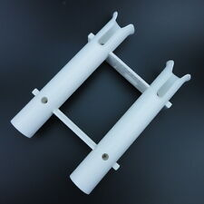 Boat 2 Tube Fishing Plastic Rod Holder Rack Marine Grade