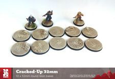 Cracked-up 10 x 32mm round resin bases