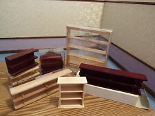 doll house emporium furniture 7x shelve units 1.12th scale
