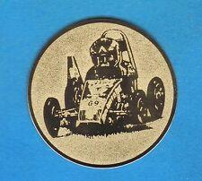 12 Embleme D:50mm Seifenkiste (Medaillen Pokale Pokal Emblem Turnier Auto NEU)