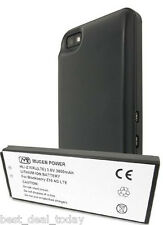 Mugen Power Extended Life Battery 3800mAh &Door For Blackberry Z10 4G BB10 Black