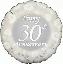 "30A PEARL WEDDING ANNIVERSARIO Partito Decorazione 18 ""Foil Balloon"