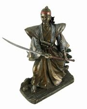 Samurai in Fighting Stance w/Long Sword Statue - FATHER'S DAY GIFT - NO RESERVE