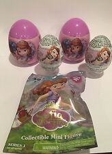 4 NEW SOFIA THE FIRST  SURPRISE EGGS WITH TOY And Candy 1 Figure