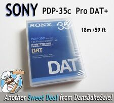 Sony PDP-35C Pro DAT Plus Box of 10 Digital Audio Tapes - BRAND NEW 18m / 59 ft