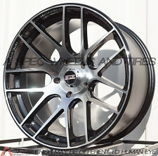 BLACK MACHINE 17X9 +20 STR 517 5X114.3 WHEELS FIT 240SX RSX TSX XB CIVIC TL RX8