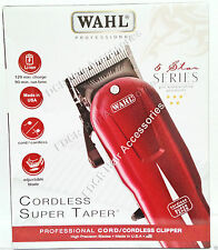 NEW WAHL PROFESSIONAL 5 STAR SERIES* CORDLESS SUPER TAPER 100-240v 50/60hz UK V
