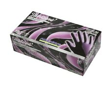 ADENNA SHADOW BLACK NITRILE EXAM GLOVES BLACK SMALL TATTOO DISPOSABLE