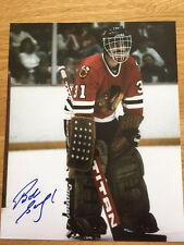 Chicago Blackhawks Bob Sauve signed 8x10 W/COA pose 1