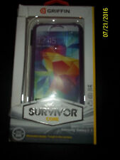 Griffin Survivor Core Cell Phone Case For Samsung Galaxy S5 Purple GB39905-2