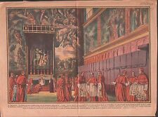 Conclave  PAPE POPE PIUS PIE XII ILLUSTRATION 1939
